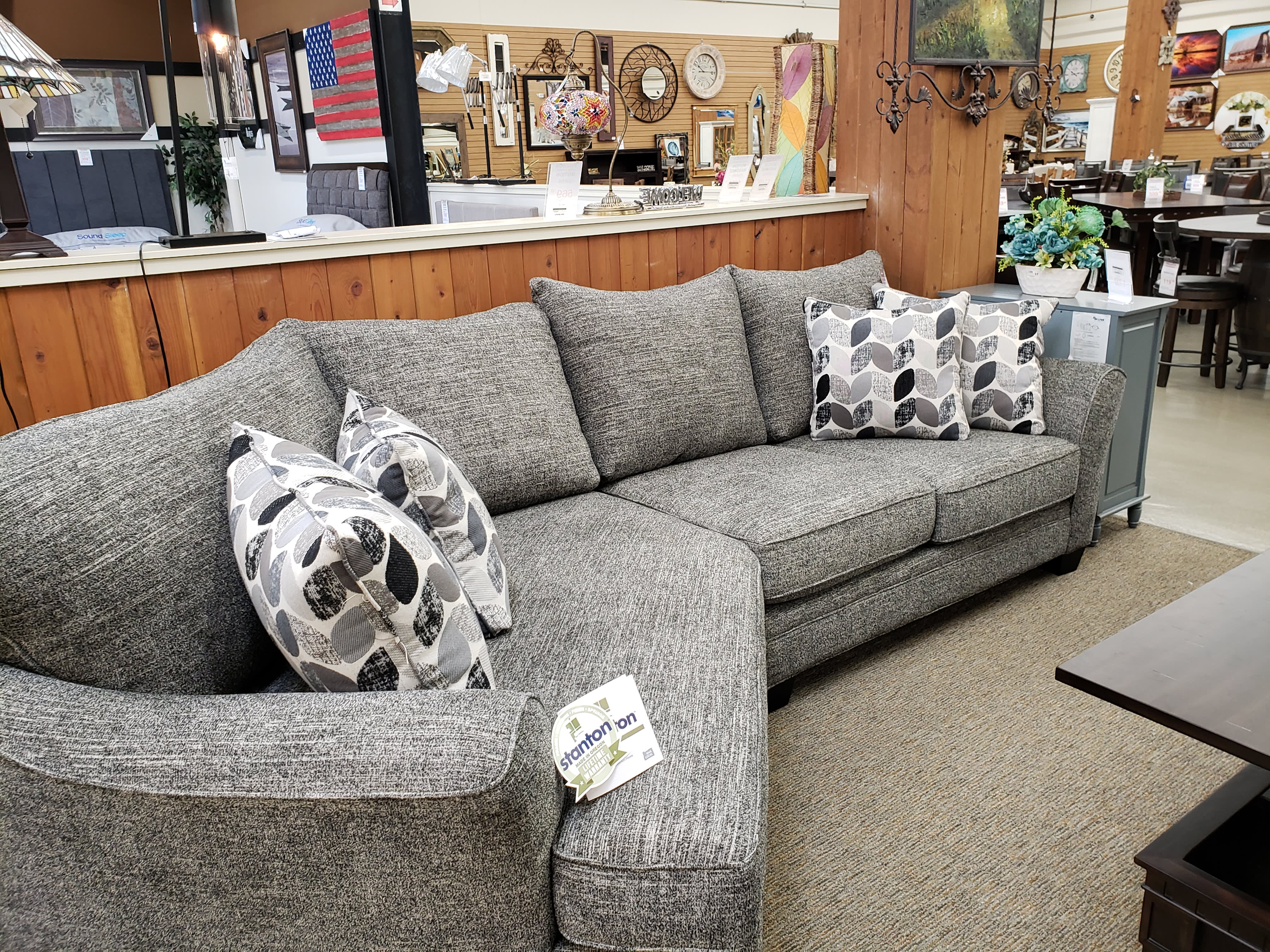 Super Stanton 372 Oslo Tux Waites Flint Cuddler Sectional Caraccident5 Cool Chair Designs And Ideas Caraccident5Info